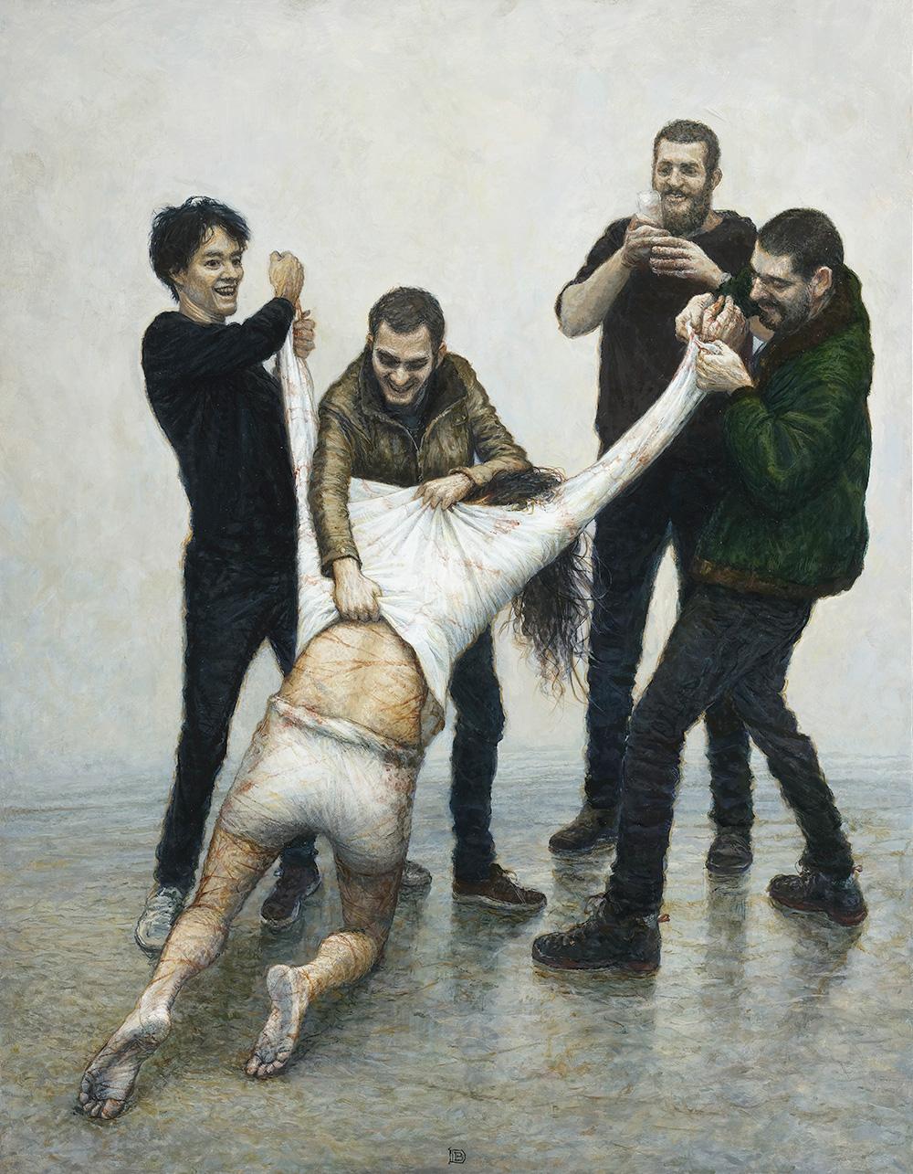 Peinture - JÉSUS EST DÉPOUILLÉ DE SES VÊTEMENTS