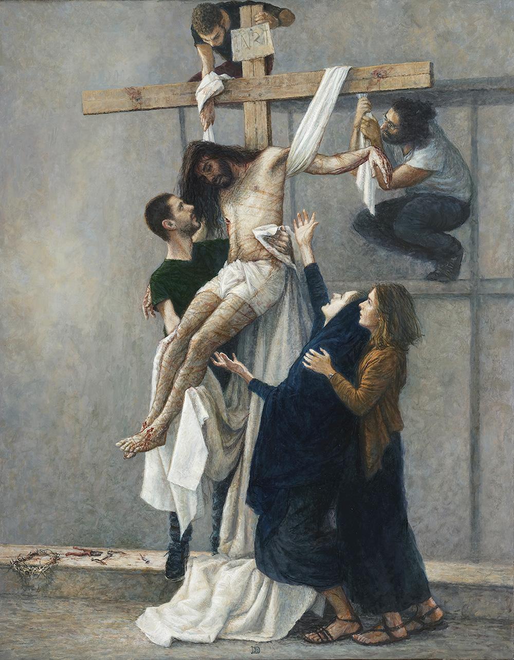 Peinture - JÉSUS EST DESCENDU DE LA CROIX