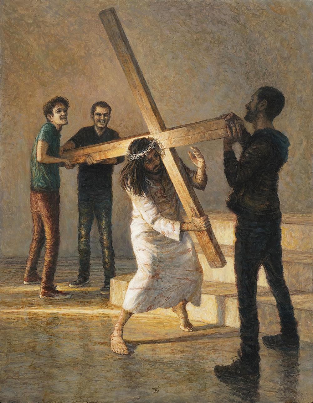 Peinture - JÉSUS EST CHARGÉ DE SA CROIX
