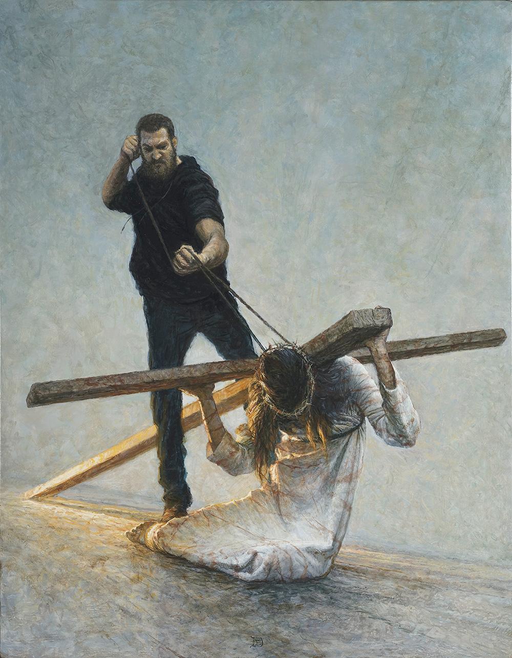Peinture - JÉSUS TOMBE POUR LA DEUXIÈME FOIS
