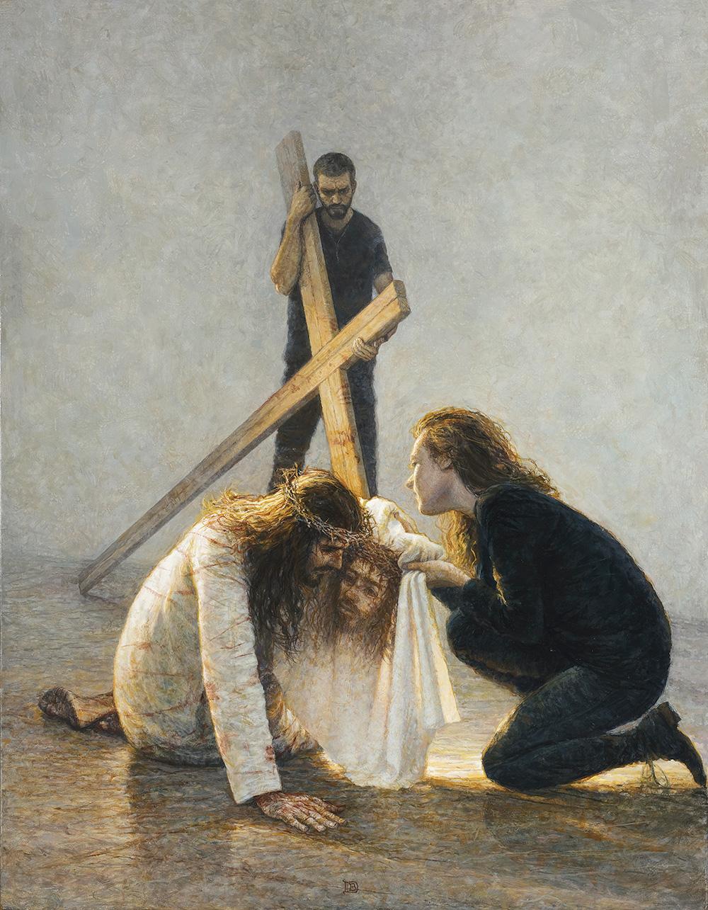 Peinture - JÉSUS RENCONTRE SAINTE VÉRONIQUE
