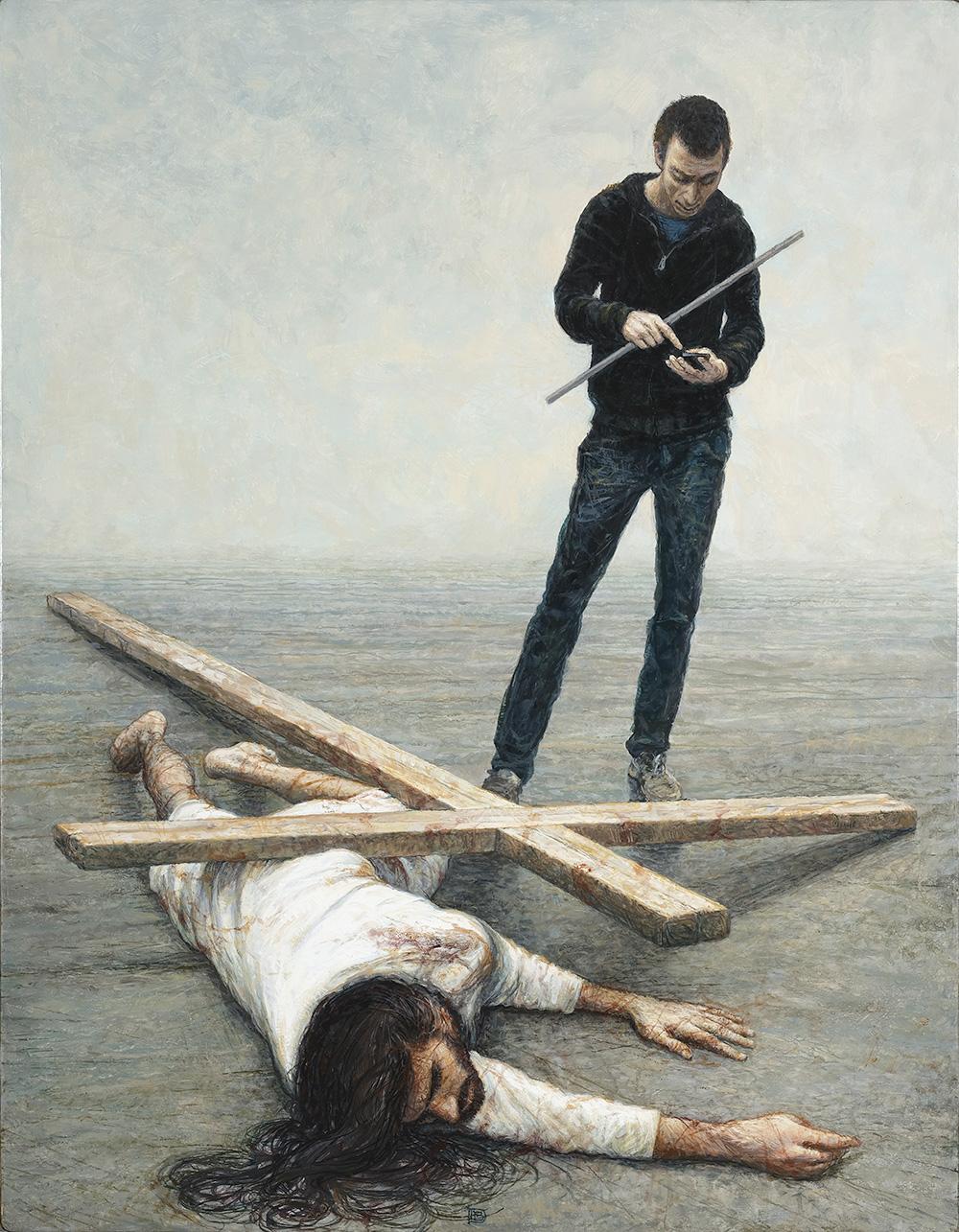 Peinture - JÉSUS TOMBE POUR LA TROISIÈME FOIS