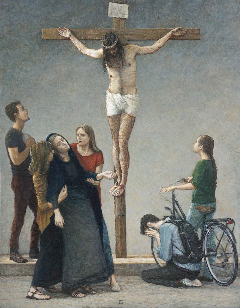 Peinture - JÉSUS MEURT SUR LA CROIX
