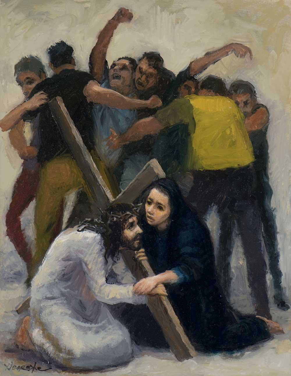 Esquisse Jésus rencontre sa mère