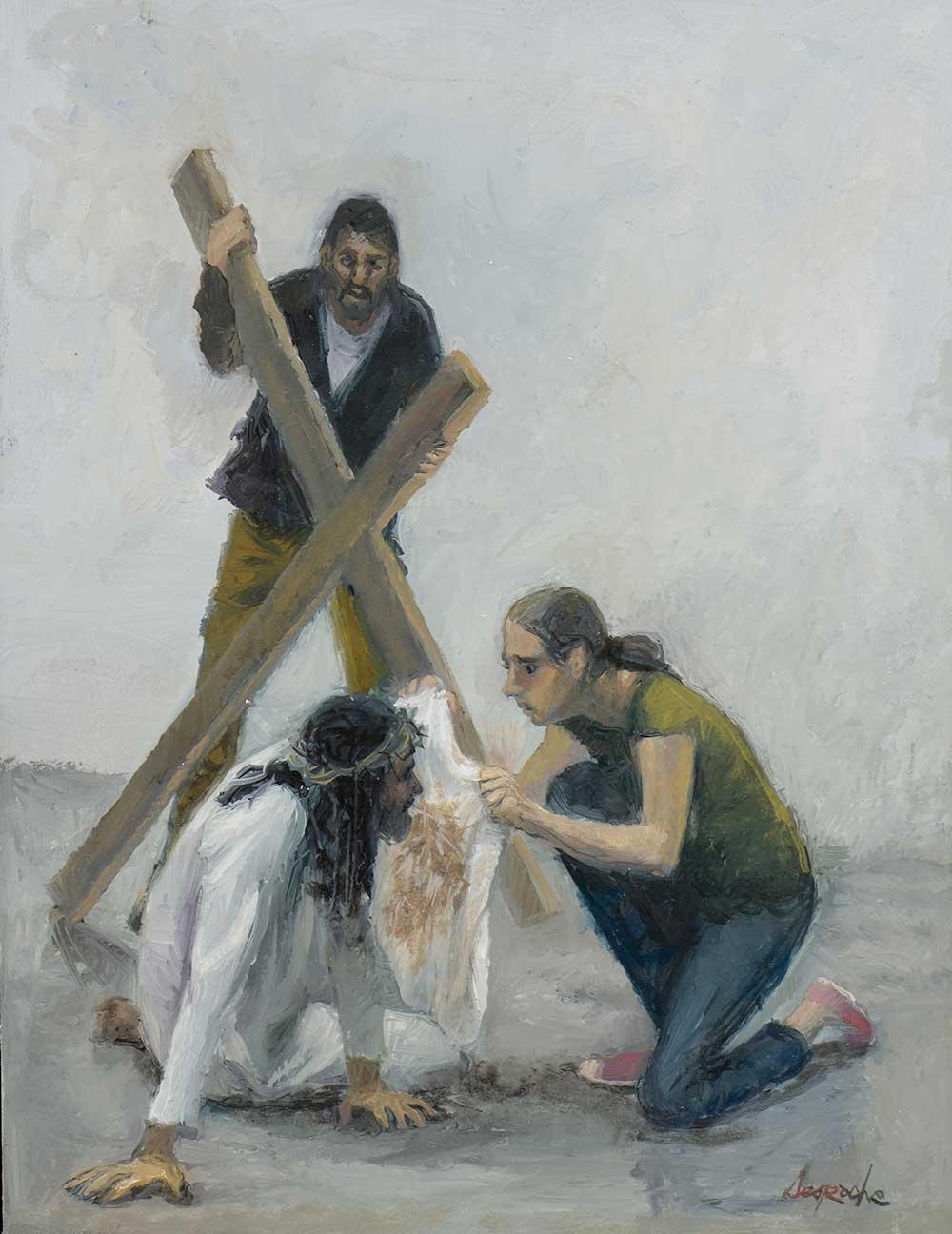 Esquisse Jésus rencontre Sainte Véronique