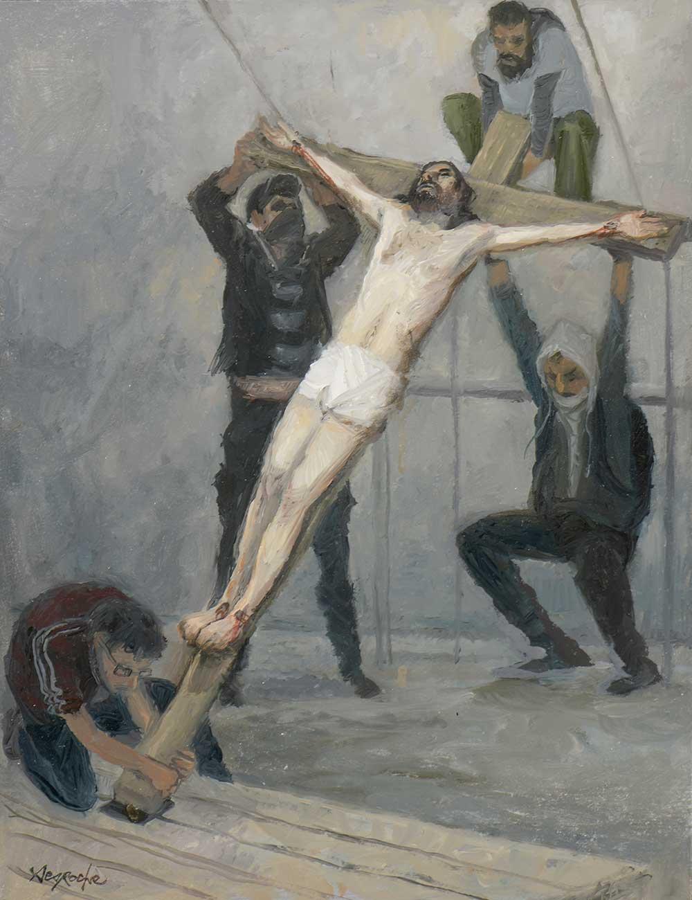 Esquisse Jésus est élevé de terre