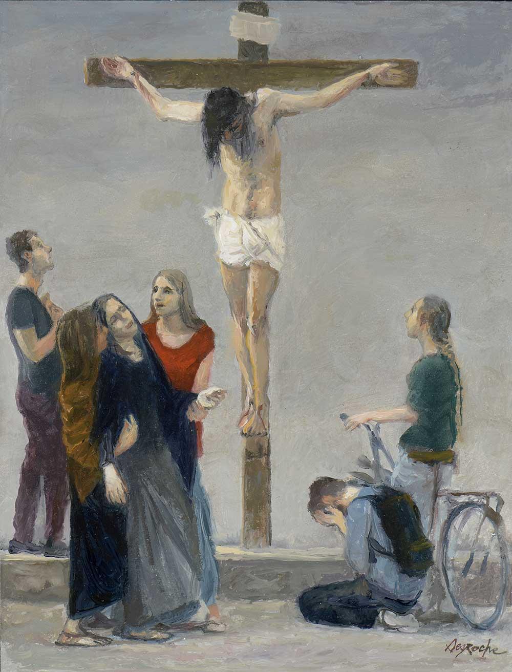 Esquisse Jésus meurt sur la croix