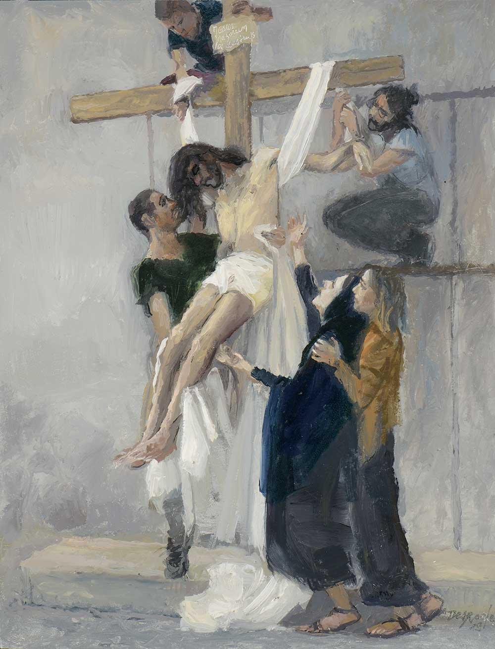 Esquisse Jésus est descendu de la croix