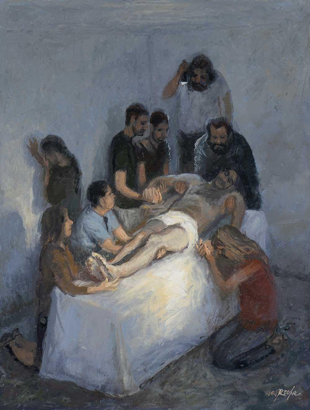 Esquisse Jésus est mis au tombeau